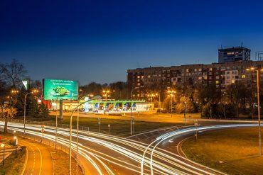 Zielony bilbord w mieście