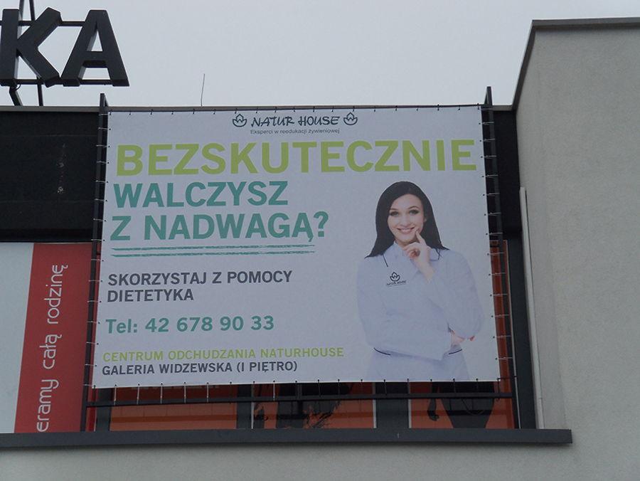 Podświetlany baner reklamowy