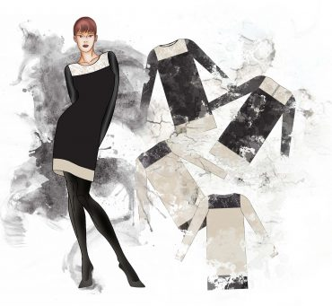 rysunek projektu ubrania