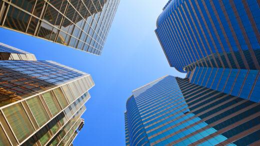 wieżowce z biurami