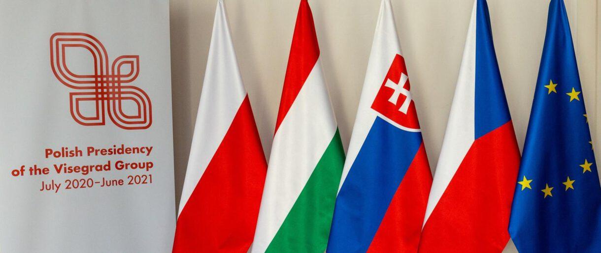 Flagi państ grupy wyszehradzkiej
